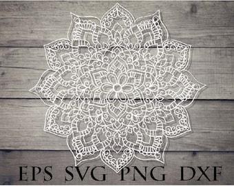 Zentangle lace svg / mandala svg file / zentangle for cricut design svg file / intricate svg file / lace mandala svg / zentangle pdf file