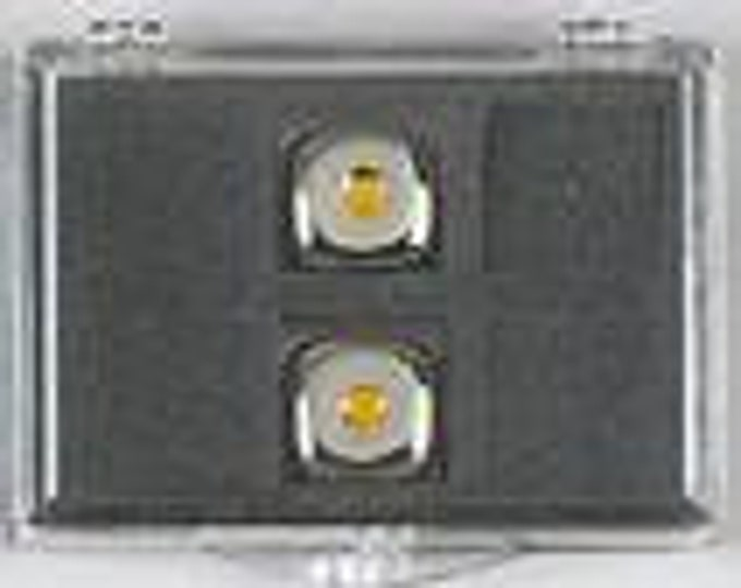 Metal Dice: Pair of Yellow Pipped 16mm d6 (2)