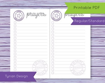 Prayers List for Midori Traveler's Notebook, Regular Size Printable (Digital Download) Print your own notebook