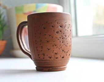 Ceramic tea cup, Pottery cup, Ceramic mug, Pottery teacup, Ceramic tea mug