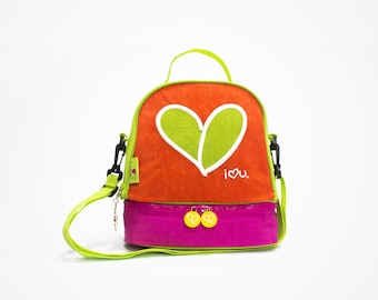 Insulated Lunch Bag for Girls | Love | Peace | Happiness | Freedom