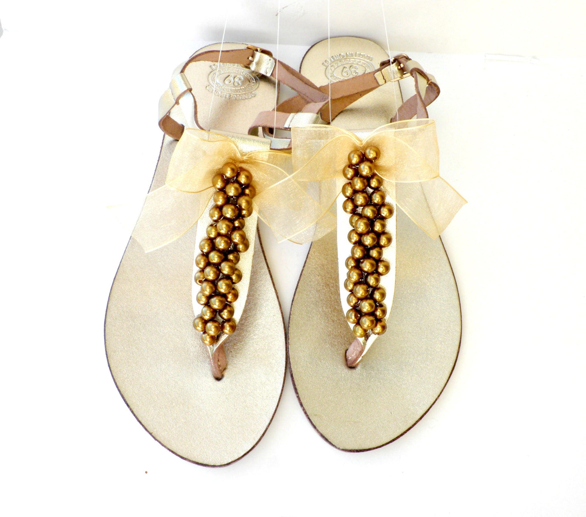 Gold sandals wedding leather sandals metalic gold sandals gold gold sandals wedding leather sandals metalic gold sandals gold pearls bridal sandals beach wedding bridal party shoes summer flats junglespirit Image collections