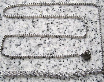 """Small ball chain with 4"""" extender"""