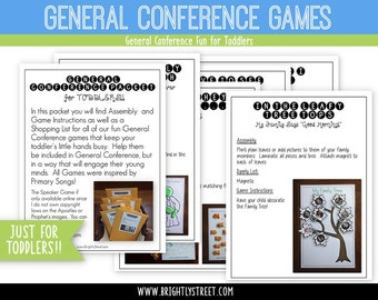 LDS General Conference Games for Toddlers