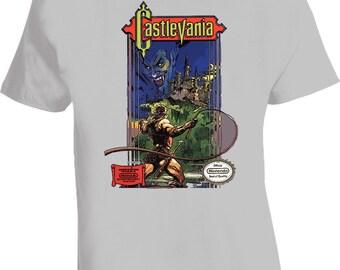 Castlevania Nes Classic Game T Shirt - Grey