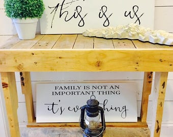This is us, Family Decor, Farmhouse Decor, This is us Sign