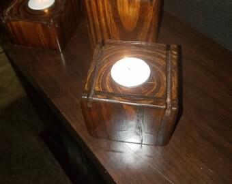 Handcrafted decorative candle holder set