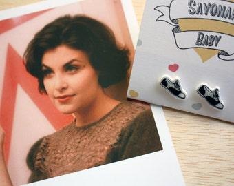 Twin Peaks Earrings, Audrey Horne Earrings, Twin Peaks Jewelry