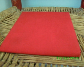 Vintage  Solid Color Floursack   Quilting/Vintage Quilt Repair  Vintage Red