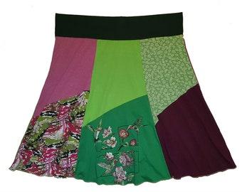 Plus Size 3X 4X Hummingbird Hippie Skirt Women's size 22 24 26 Garden Party upcycled skirt plus size skirts Twinkle Skirts Twinklewear