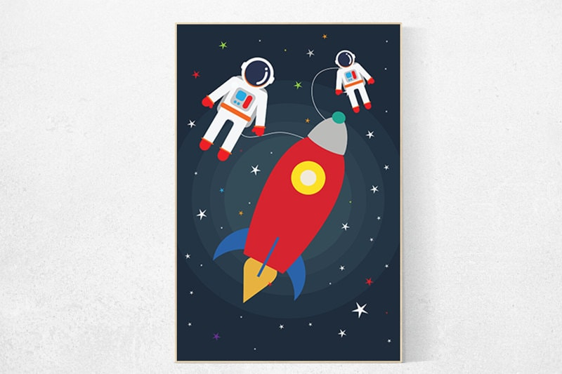 Kids Room Decor Rocket Ship Outer Space Nursery Outer Space