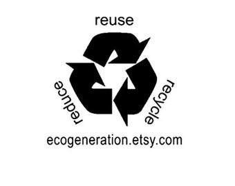 Recycle Rubber Stamp custom reduce reuse recycle
