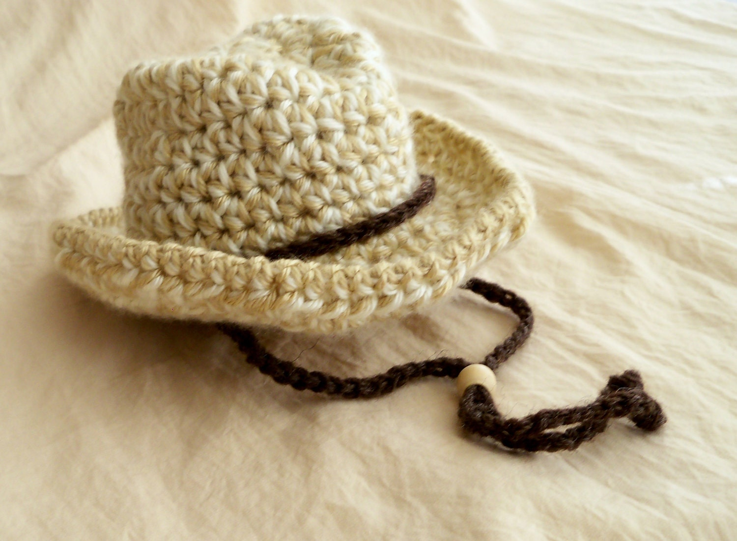 Crochet Baby Cowboy Hat and Boots PATTERNS - Baby Cowboy Hat and ...