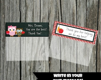 INSTANT Download Blank TEACHER Goodie Treat Bag Topper  PRINTABLE Download - Fun Family Party diy