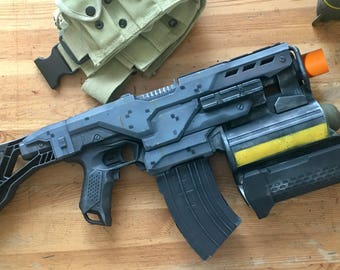 Painted Nerf, Nerf Demolisher,  Prop for Cosplay LARP and Display. Painted like video games HALO Style.