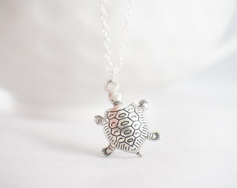 Sea Turtle Necklace - Turtle necklace - turtle jewelry - nautical necklace - beach jewelry