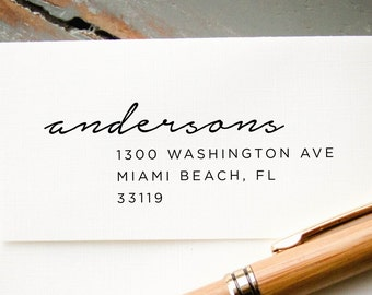 Custom Stamp, Custom Rubber Stamp, Custom Address Stamp, Personalized Stamp, Self-Inking Stamp,  Return Address Stamp, Hand Calligraphy Look