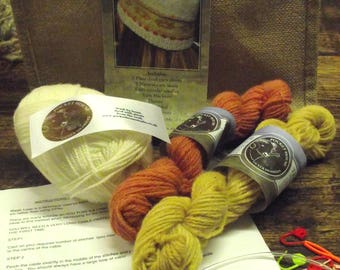 NEW, Crofters hat knitting kit.