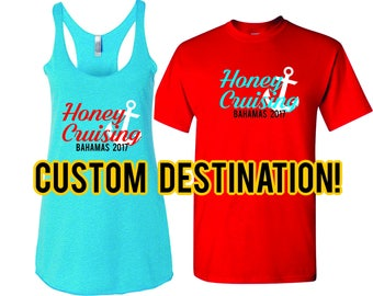 Honeymoon Shirts, Just Married Shirts, Cruise Shirts, honeymoon shirts, engagement gift, Mr and Mrs Shirts, Cruising Shirts, Hubby and Wifey