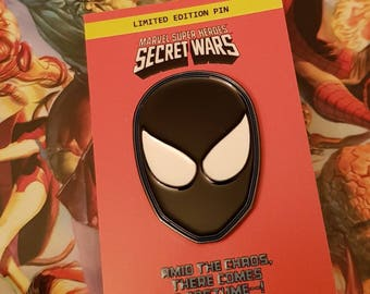 SECRET WARS Black Spider-man retro 80s enamel pin