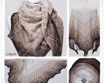 Knitting Pattern Lace Shawl Latte Macchiato