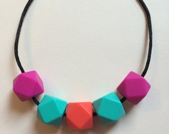 Chic Simple Hexagon Necklace-HPTC