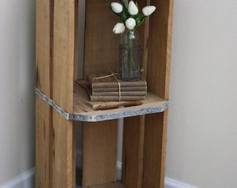 Orange Box, Crate, Wood Crate, Organizational Crate, Rustic Wood Crate
