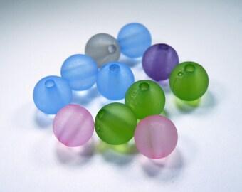 Transparent 5 mm round beads
