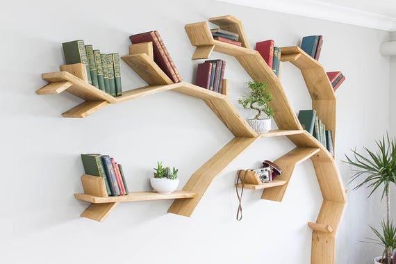 bookcase the tree shelf bookshelf sq bespoak shelves shaped windswept oak by shop interiors
