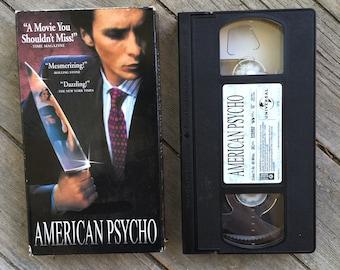 American Psycho VHS tape Patrick Bateman Christian Bale Horror Movie