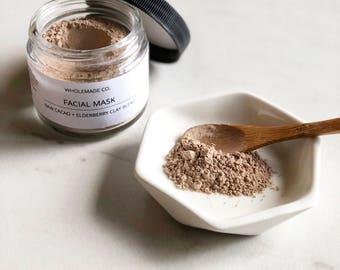 Raw Cacao + Elderberry Facial Mask || Antioxidant