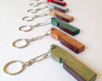 Candies keychain, recycled oak wine barrel staves