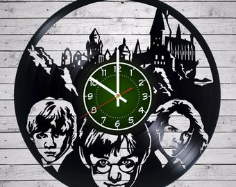 HARRY POTTER Hermione Granger Ron Weasley Vinyl Record Wall Clock made from 12inches/30cm Vinyl Record gifts for children bedroom Gryffindor