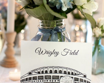 Chicago Icons Wedding Table Numbers | Chicago Wedding Theme | Chicago Landmarks, Set of 10, 15, or 20