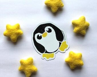 Penguin Sticker Or Magnet, Vinyl Penguin Sticker, Large Sticker, Penguin Magnet