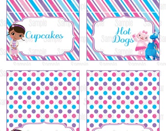 Instant Download Printable Doc McStuffins Food Tent Cards