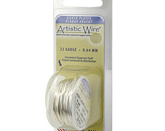 Artistic Wire, 26 gauge Tarnish Resistant, Silver, 15 yards, Wire, Findings, Wire Wrapping, Supplies