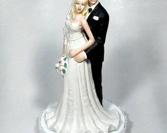 Bald Caucasian Groom with Bride 49BC