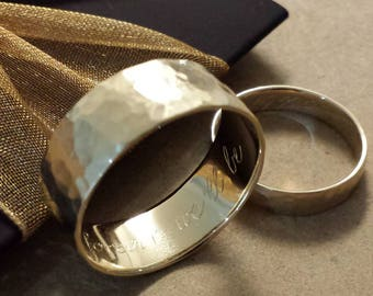 Custom Service: Inside ring engraving for gold and palladium rings