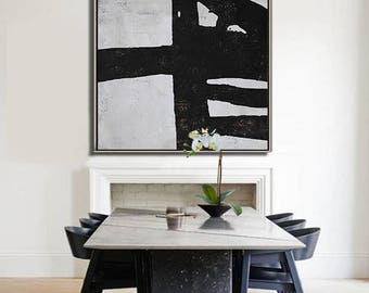Abstract painting Large Canvas Art, Minimalist Abstract Art, hand painted acrylic painting on canvas - Ethan Hill Art No.H67S