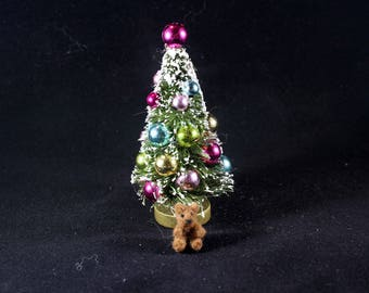 Micro miniature christmas teddy bear