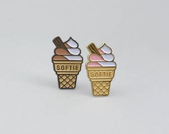Softie Enamel Pin