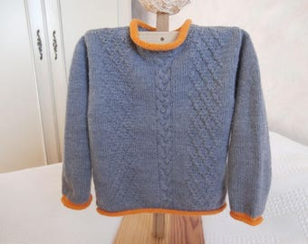 Wool Sweater grey metal 2 years