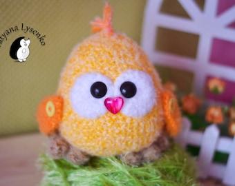 Crochet PATTERN  chicken 15 сm