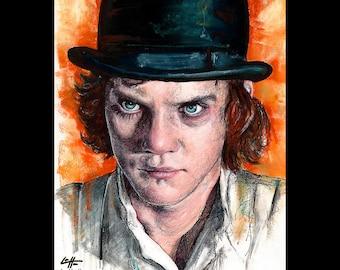 "Print 8x10"" - Alex - A Clockwork Orange Malcolm McDowell Stanley Kubrick Vintage Violence Gangs Murder Society British Punk Pop Art UK"