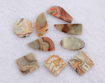 82.70 Cts Natural crazy lace agate cabochon gemstone mix shape Crazy lace agate loose gemstone crazy lace loose stone 9 Pcs