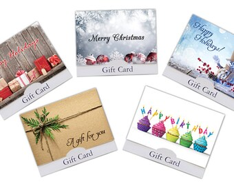 Multi-Holiday Gift Card Holder Variety Pack - 5 pack