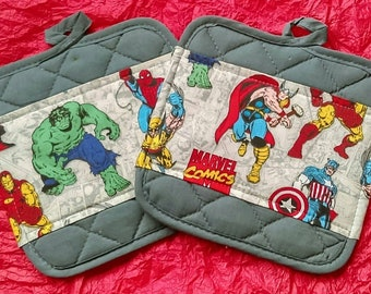 Marvel Comics  Kitchen Pot Holders - Hot Pads