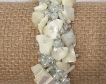 Mother of Pearl Cluster Bracelet