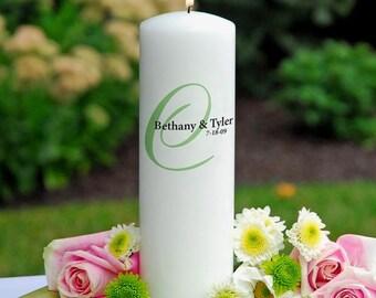 White elegance unity candle